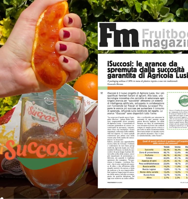 i Succosi, protagonisti sulle pagine di Fruitbook Magazine